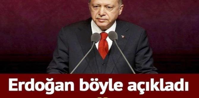 """Erdoğan, """"İlk Müjdemi Veriyorum"""" Dedi ve Ekledi"""