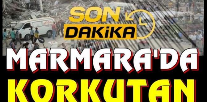 Son dakika   Marmara Denizi'nde korkutan deprem !