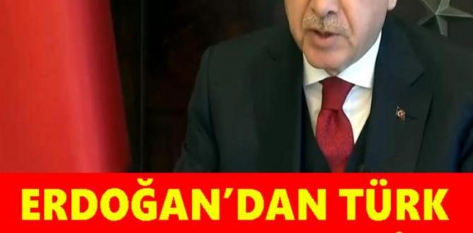 Cumhurbaşkanı Erdoğan, video konferansla Türk Konseyi'ne seslendi