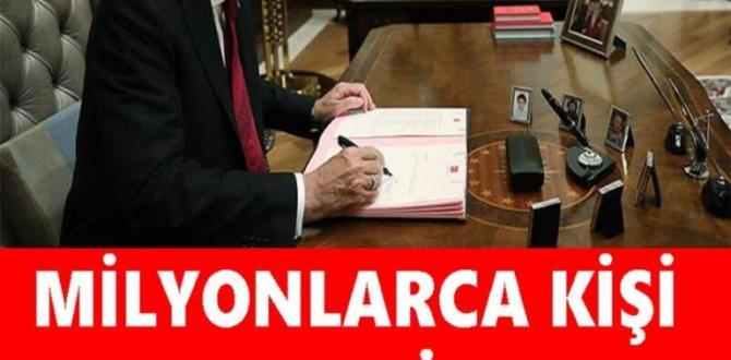 Milyonlarca Kişi Bu Haberi Bekliyordu: Cumhurbaşkanı Erdoğan İmzaladı