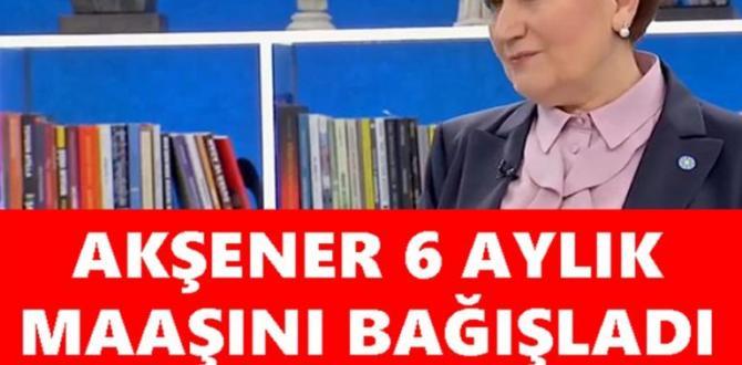 Meral Akşener, 6 aylık emekli maaşını başka kampanyaya bağışladı