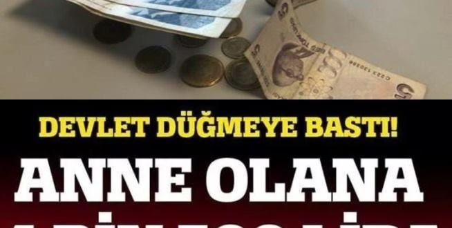 Annelere 4 Bin 500 Lira maaş veriliyor