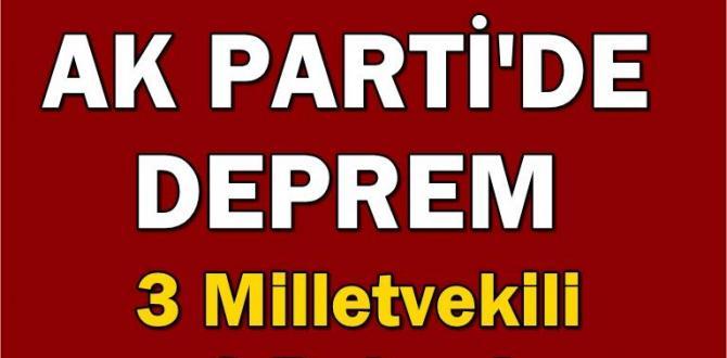 AK Parti'den 5 önemli isim dün akşam istifa ettiler. Siyaset çalkalanıyor