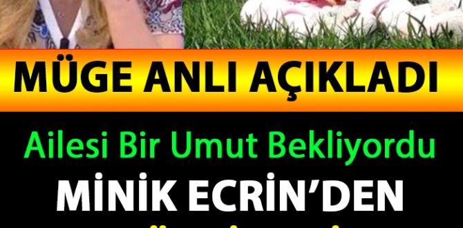 Minik Ecrin'den Umutları Y-ıkan Haber