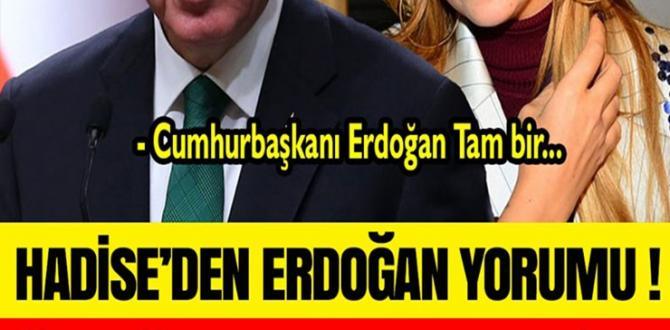 Sanatçı Hadise'den Çok Konușulacak Erdoğan Yorumu