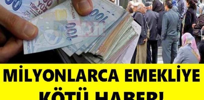 Milyonlarca Emekliye Kötü Haber: Emekli Maașları Tehlikede!